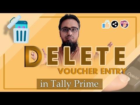 Delete Voucher Entry in Tally Prime | टेली प्राइम में वाउचर एंट्री को डिलीट कैसे करें