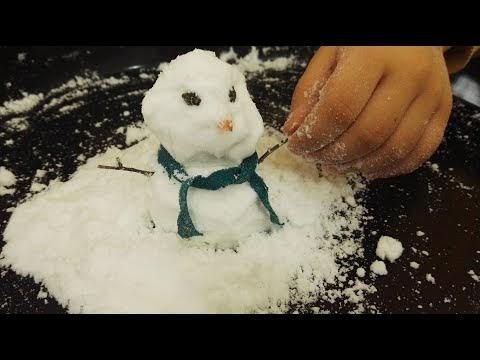 Evde erimeyen yapay kar nasıl yapılır? Ve kardan adam yapımı.