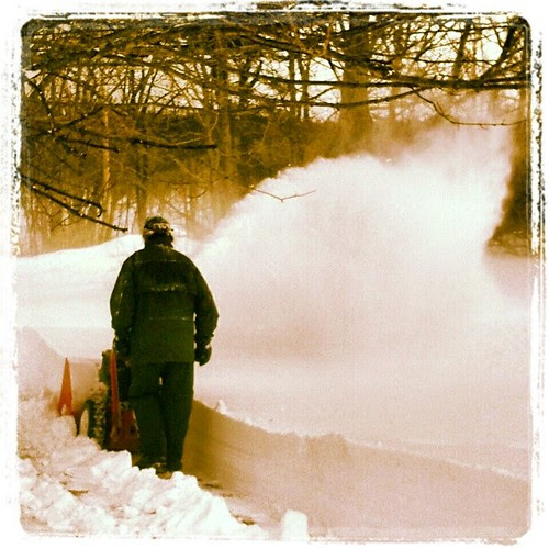 I love him so much (yes, even more than I hate clearing snow)!!! #Blizzard2013 #Nemo #driveway #snow