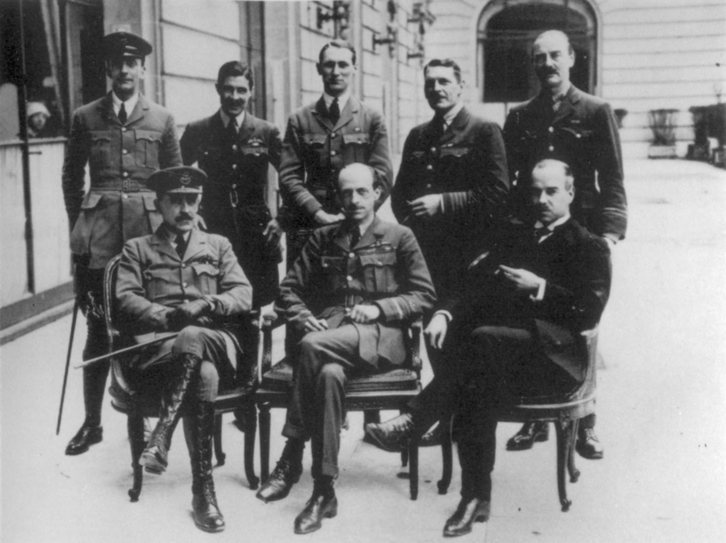 British Air Section at the Paris Peace Conference in February 1919