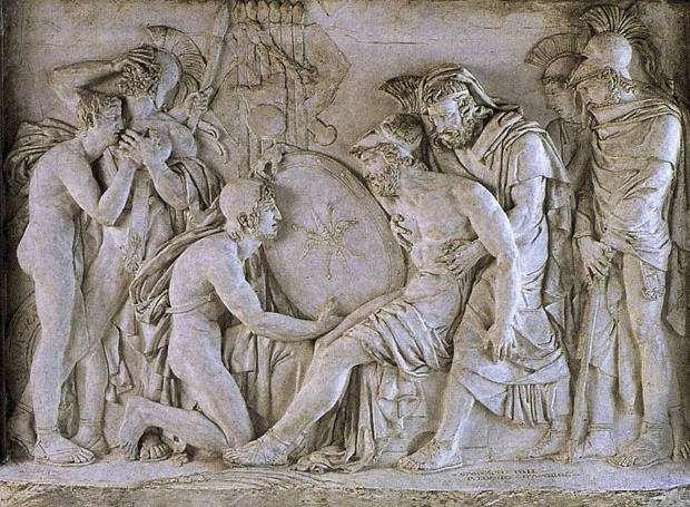Ο θάνατος του Επαμεινώνδα στη μάχη της Μαντίνειας
