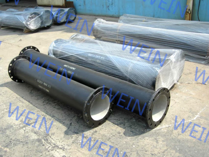 K9 Class Weld Flanged Ductile Iron Pipe Structure Round For Water Supply