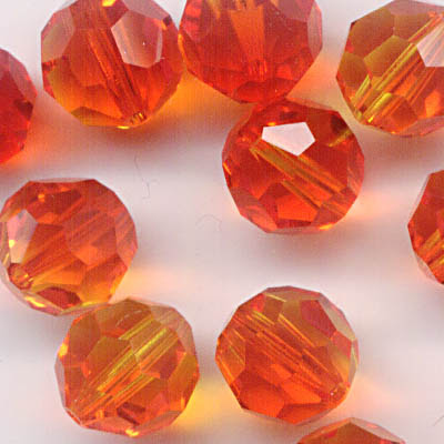 27750002201237 Swarovski Bead - 8 mm Faceted Round (5000) - Fire Opal (1)
