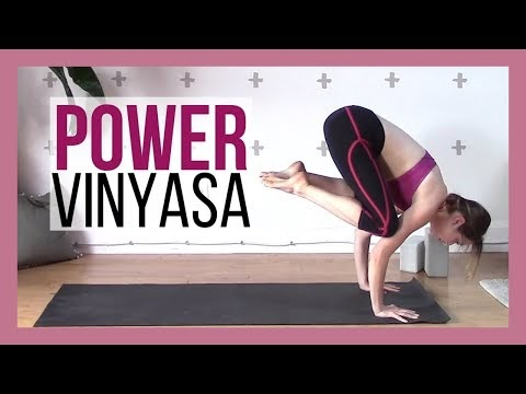 power vinyasa intermediate yoga workout 40 min  yoga