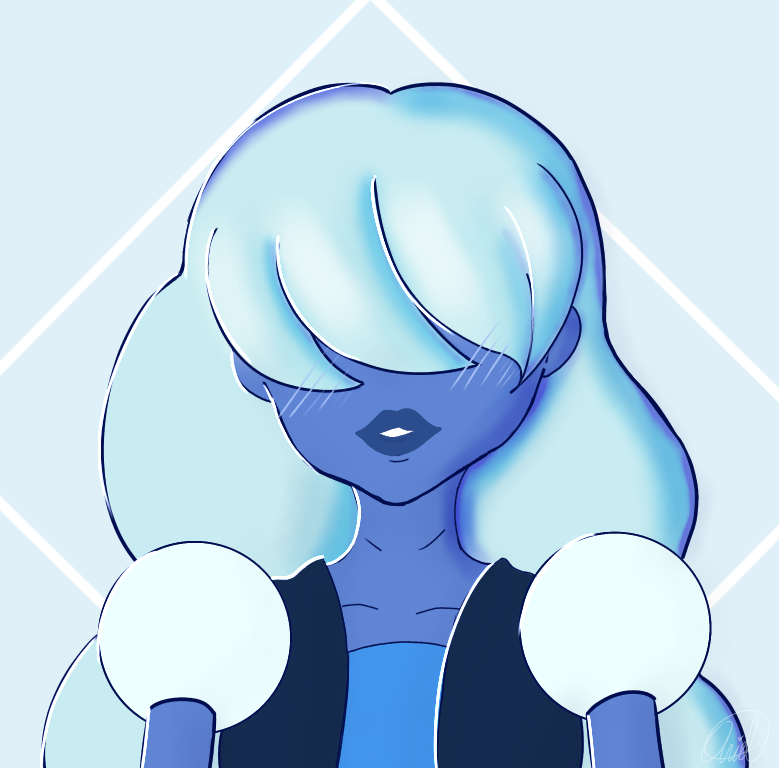 A simple doodle of Sapphire (from Steven Universe)~