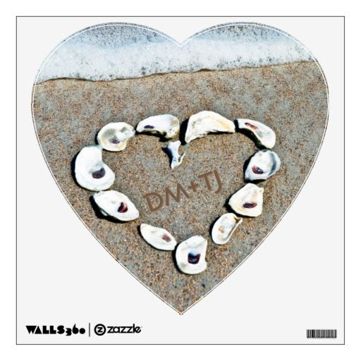 Love on the Beach Personalized Heart Wall Decor from Zazzle.