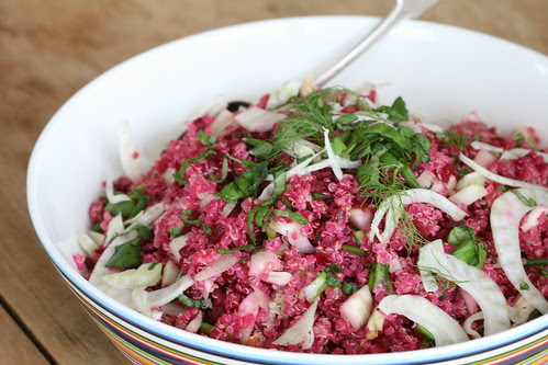 Quinoa and beet salad / Kinoasalat peediga