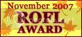Nov07 ROFL award