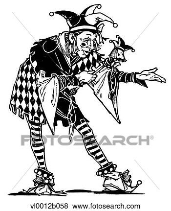 Clip Art - court jester.  fotosearch - search  clipart, illustration  posters, drawings  and vector eps  graphics images