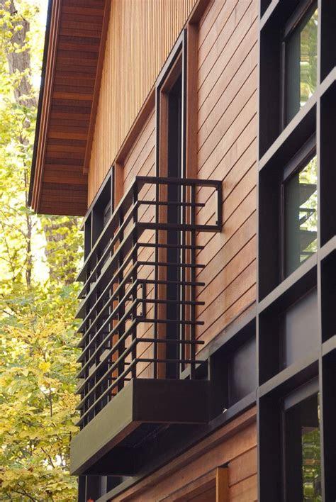 black metal balcony railing idea  modern minimalist
