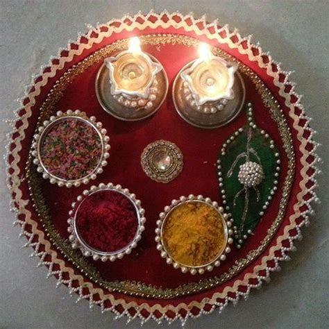 Manjal and Kungumam Aarthi plate   Plate Decoration