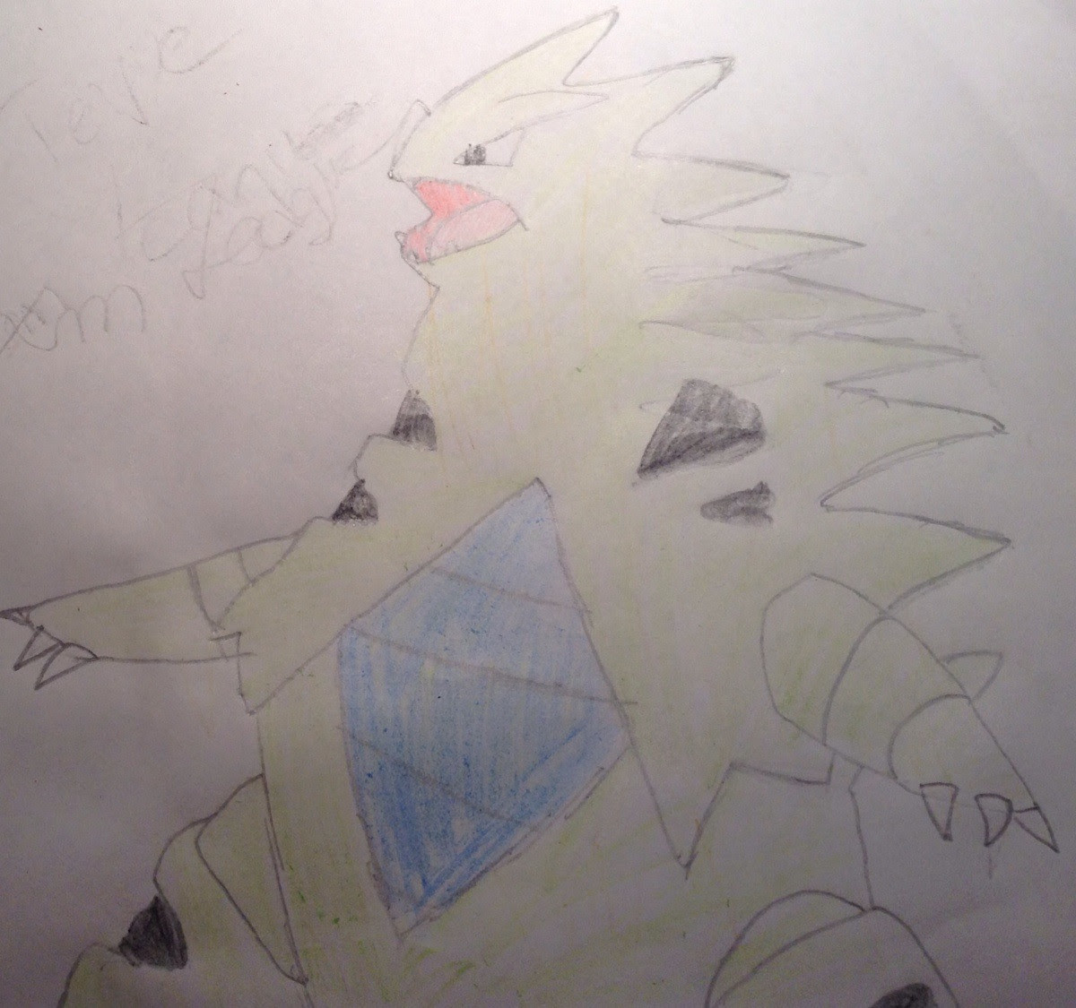 Drew This Picture Of Tyranitar Back When I Was Probably 11 Or 12 I