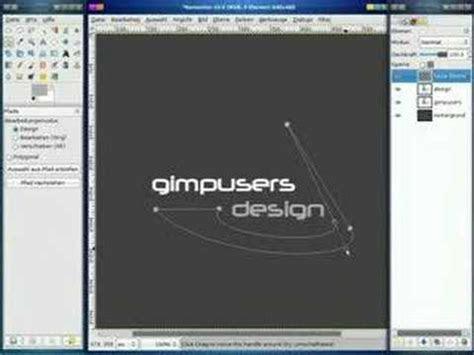 gimp tutorial logo design youtube