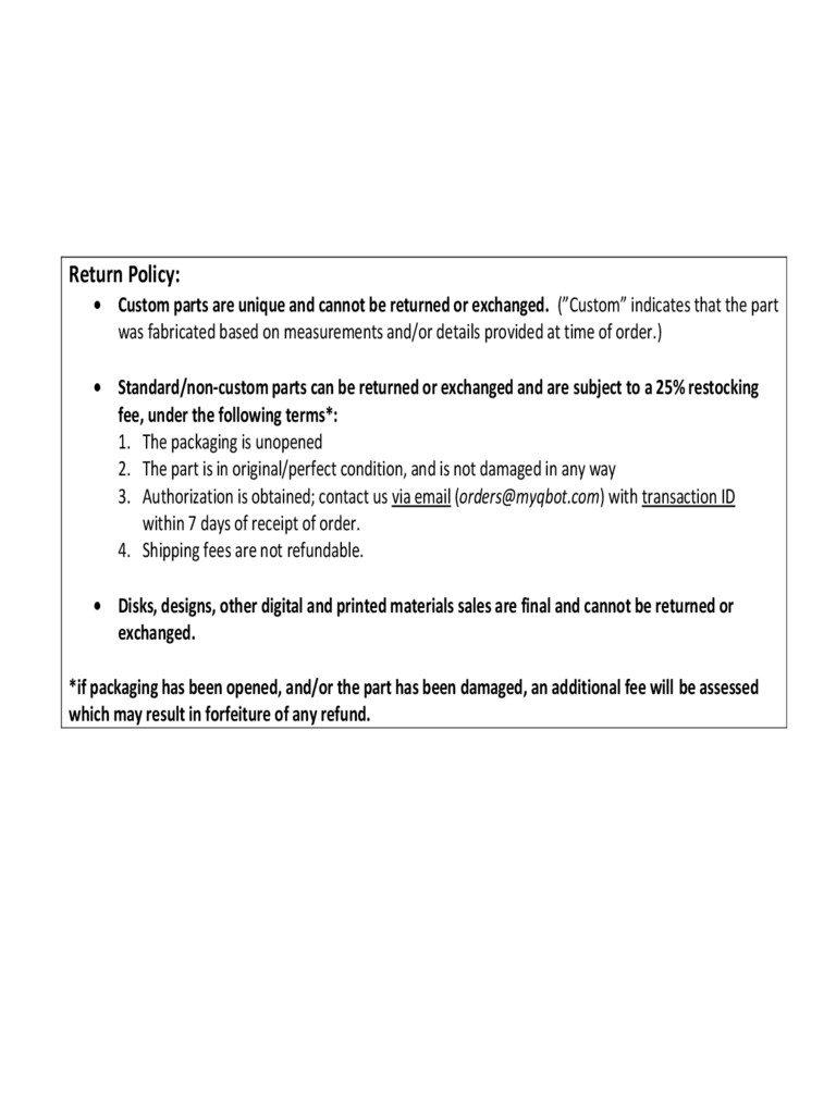 return policy sample d1