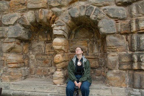 Susanne at the Cathedral of St. Andrews