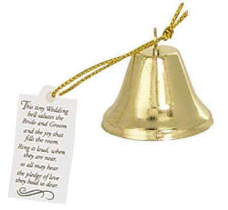 Gold Wedding Poem Bells   Bells   Basic Craft Supplies