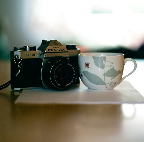 Pentax K1000 and Coffee