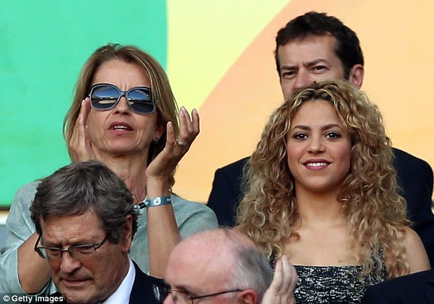 Glamour: Worldwide superstar Shakira was in the stands in Fortaleza