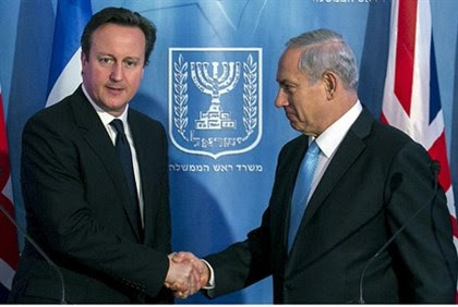 Binyamin Netanyahu and UK counterpart David Cameron