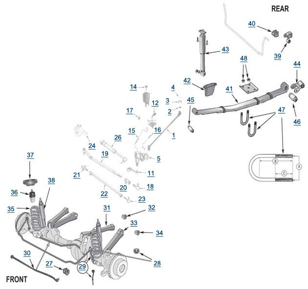 2000 Jeep Cherokee Front Suspension Diagram