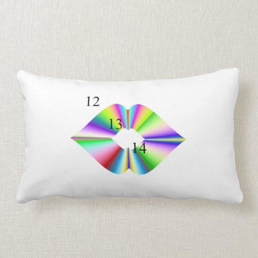 12-13-14 Rainbow Kiss Pillow