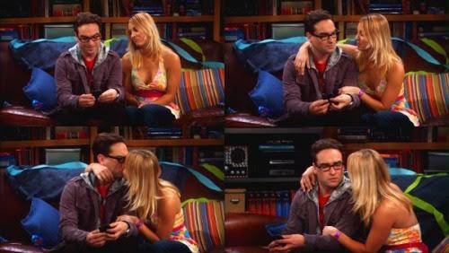 Penny besa a Leonard