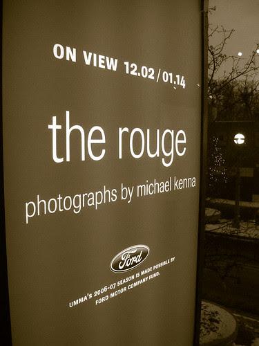 The Rouge Exhibit banner