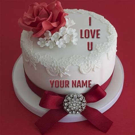 Write Name on I Love You Propose Cake Online Free   wishes