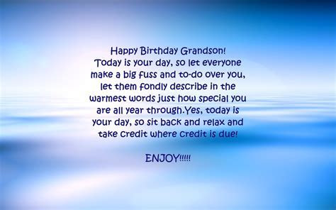 Grandson Birthday Verses   Card Verses, Greetings And Wishes