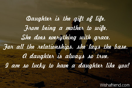 I Am Lucky To Have You Poem For Daughter