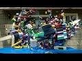 Lego Plane Crash In Slow Motion - Video