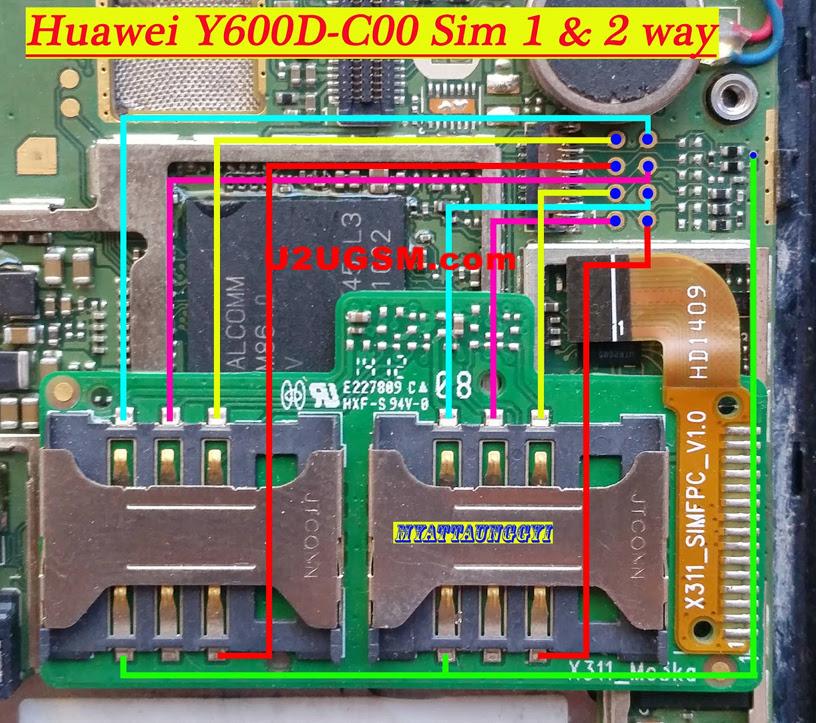 Huawei Y600D-C00 Insert Sim Card Problem Solution Jumper Ways