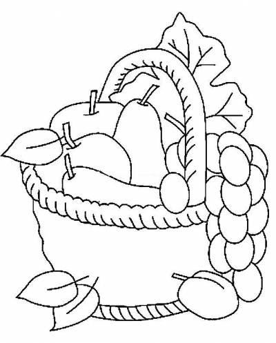 Meyve Sepeti Etkinlik Türü Kağıt Işleri Boyama Kullanılan Malzemeler