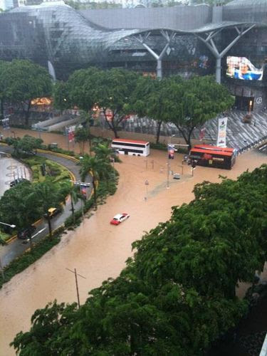 Orchard Road Flooded - Photo by Vin Go