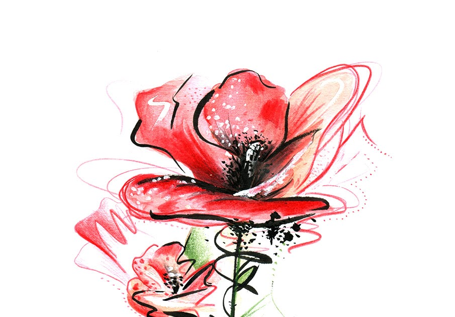 line art gesicht mit blumen  a flower  stock vector