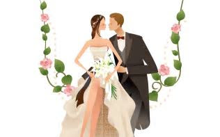 Images For > Cartoon Wedding Couple Vector   weddings
