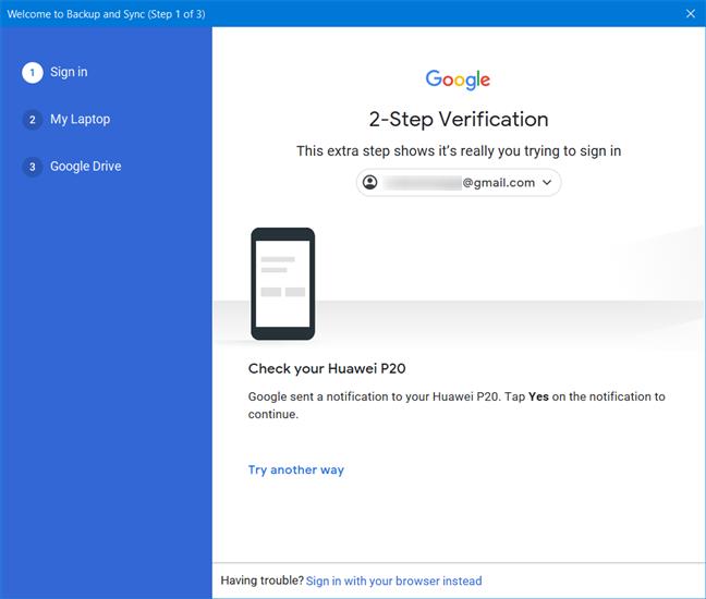 Aprobar la verificación en dos pasos de Google