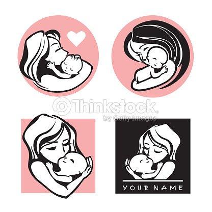 Feliz Madre E Hija Una Simple Vector Símbolo Arte Vectorial Thinkstock