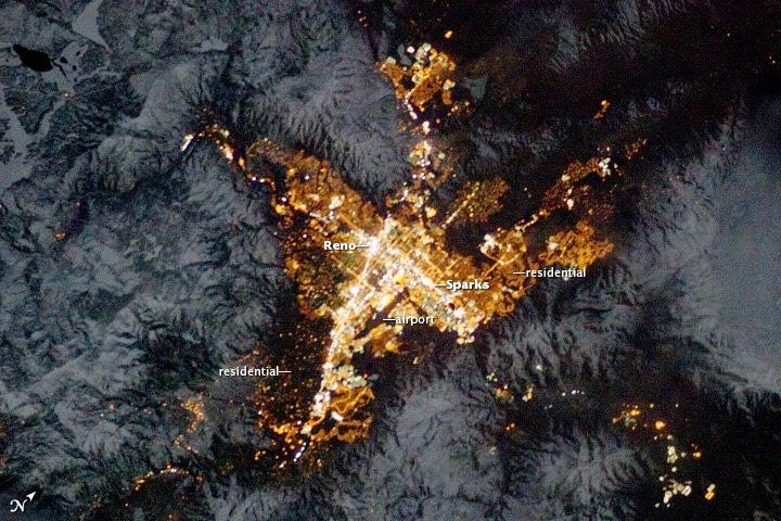 Solitary Dog Sculptor I: NASA: US - Reno. Nevada at night ...
