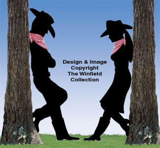 Cowboy and Cowgirl Silhouette Patterns