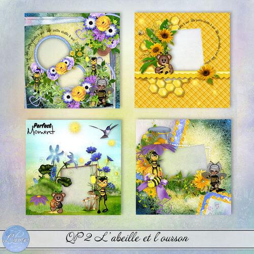 L'abeille et l'ourson QP 1 - et 3