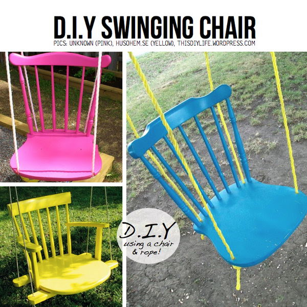 Turn Old Chair to Funny Swinging Chair