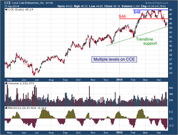 1-year chart of CCE (Coca-Cola Enterprises, Inc.)