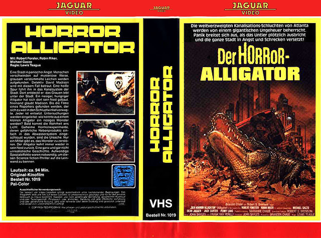 Alligator (VHS Box Art)