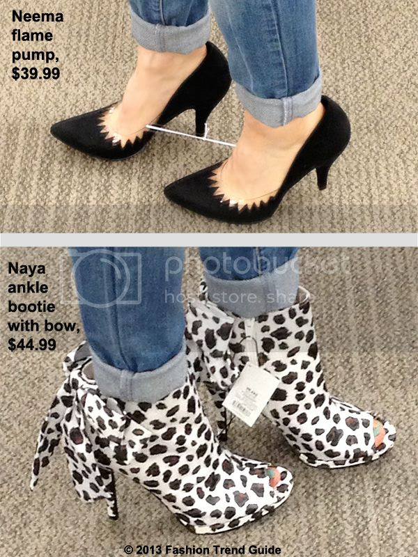 Kate Young for Target Neema flame pumps and Naya leopard booties