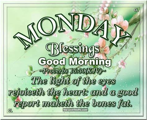 Good Morning Monday Blessings Quotes
