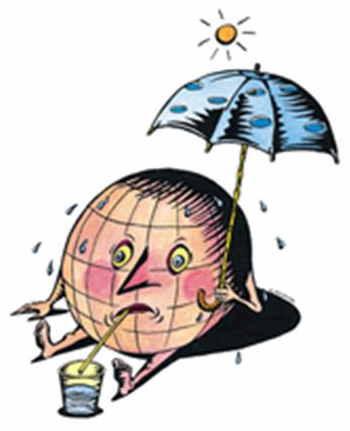 Global warming cartoon