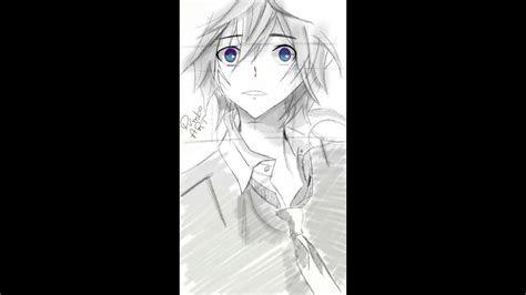 draw anime guy digital painting sony sketch app
