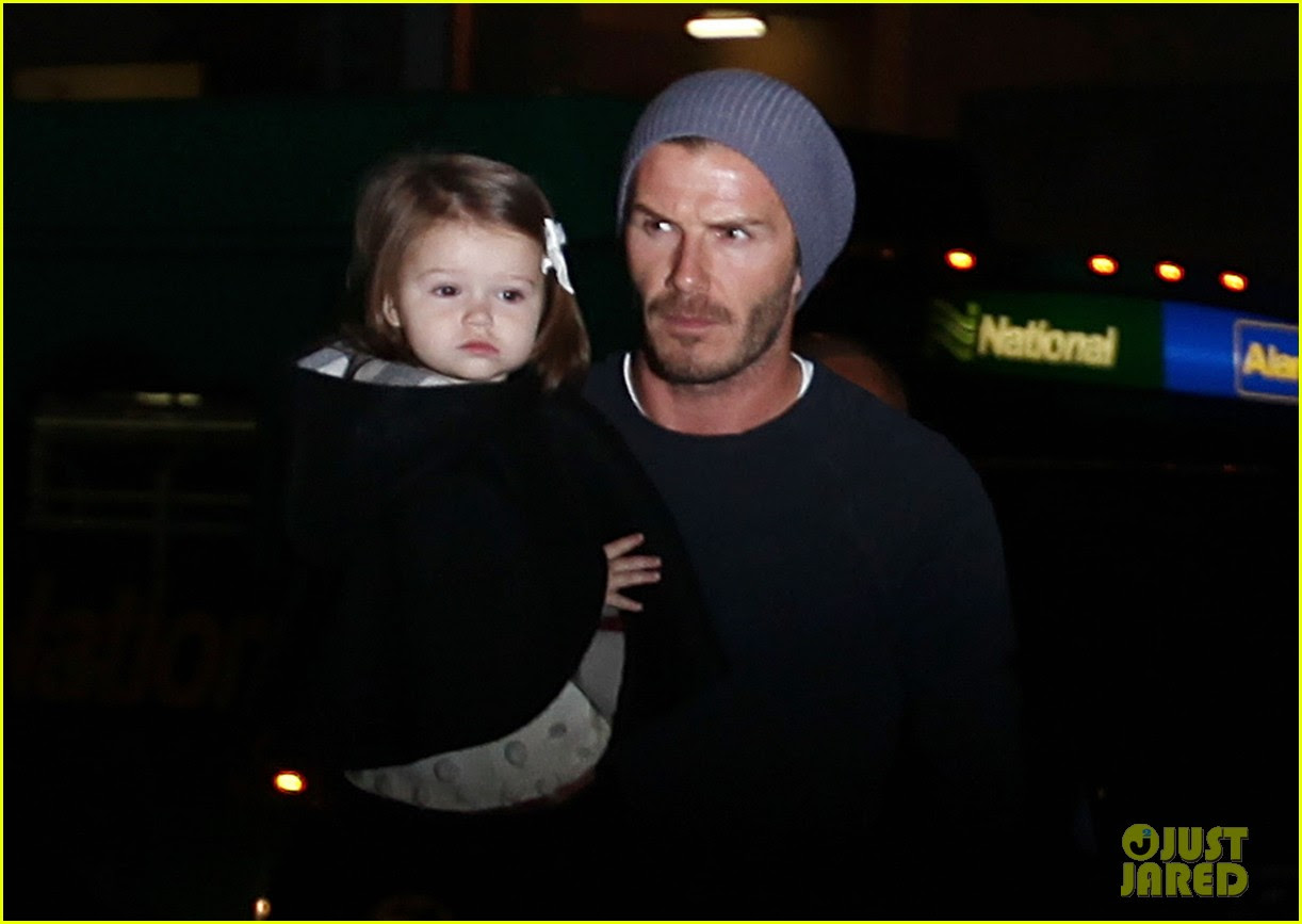 david victoria beckham depart lax with kids 02