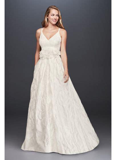 Floral Jacquard A Line Wedding Dress   David's Bridal